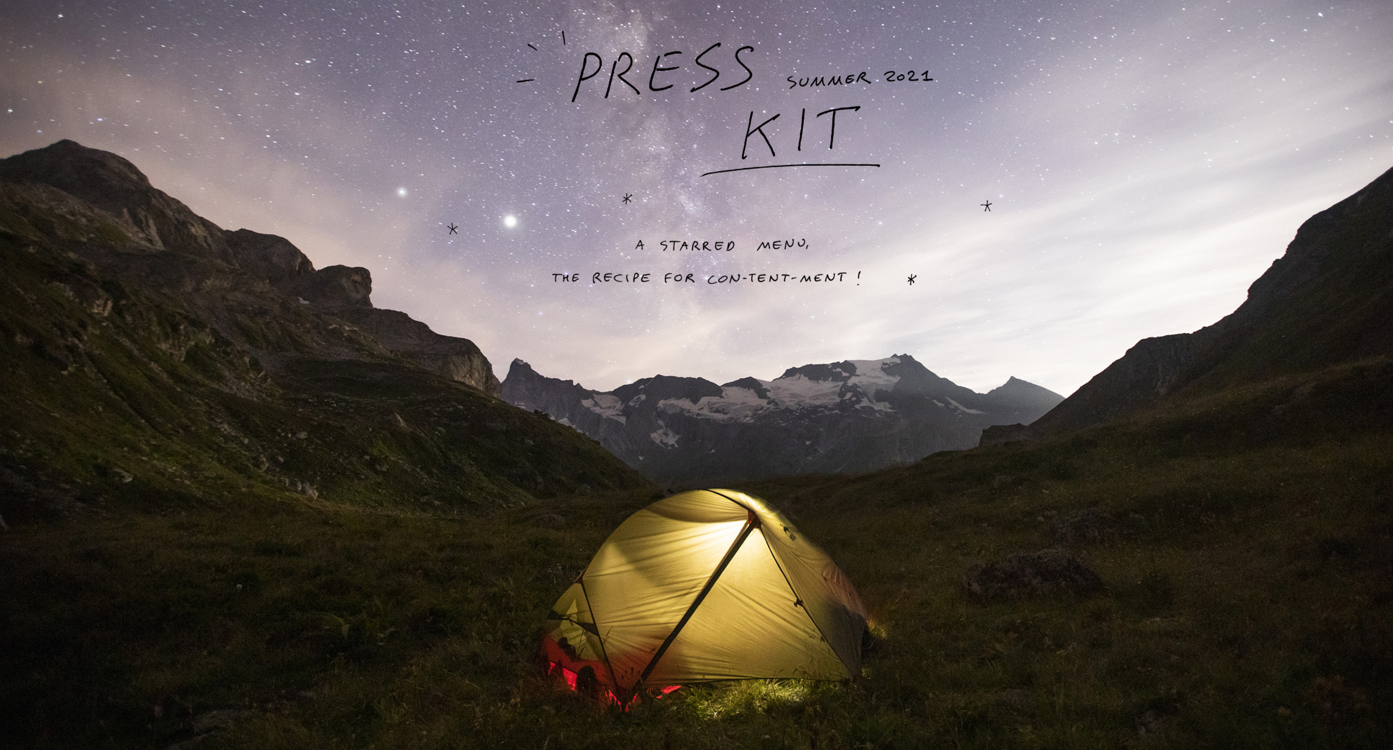 The press kit for summer 2021 is now available. Just ask for the menu!